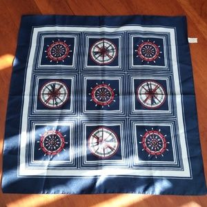 Other - Scarf square 20x20 marine made in Italy!!!
